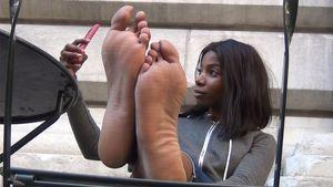 black teen foot fetish