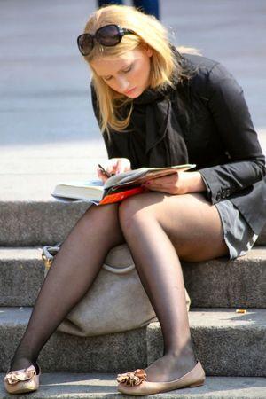 blonde teen voyeur