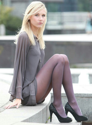 blonde teen stockings