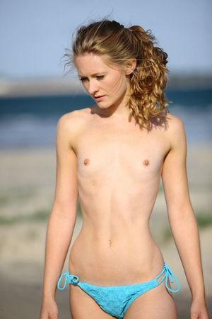 beach topless young little