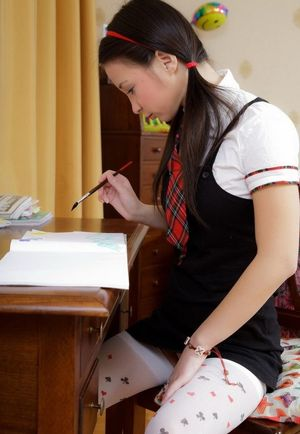 sexy girls in school uniform