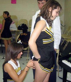 cheerleaders no panties