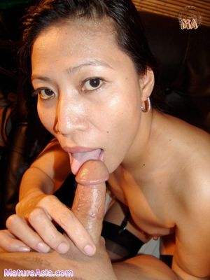 mature asian blowjob