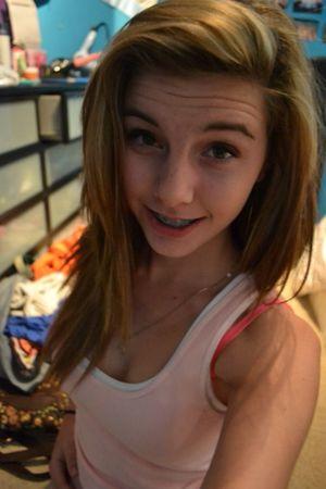 brunette teen cumshot
