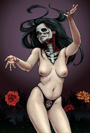 sexy skeleton girl