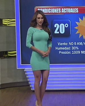 sexy weather girl strips