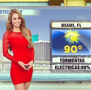 sexy weather girl pics