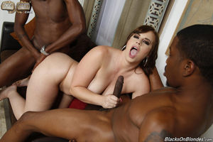 white chick gets pummeled by big black monster cock