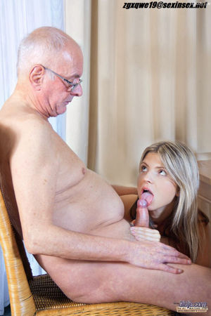 grandpa gets blowjob