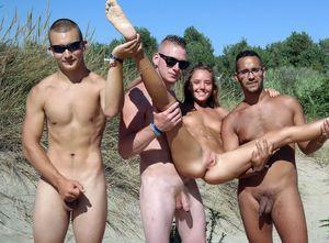 public beach swingers