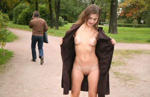 sexy girl naked in public